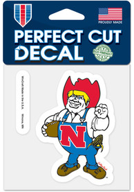 Nebraska Cornhuskers 4x4 Vault Auto Decal - Red