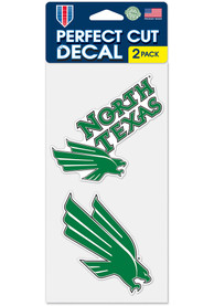 North Texas Mean Green 4x4 2 Pack Auto Decal - Green