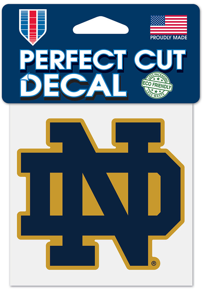 """NOTRE DAME FIGHTING IRISH PERFECT CUT DECAL 4/""""X4/"""" COLLEGE VAULT COLLECTION"""