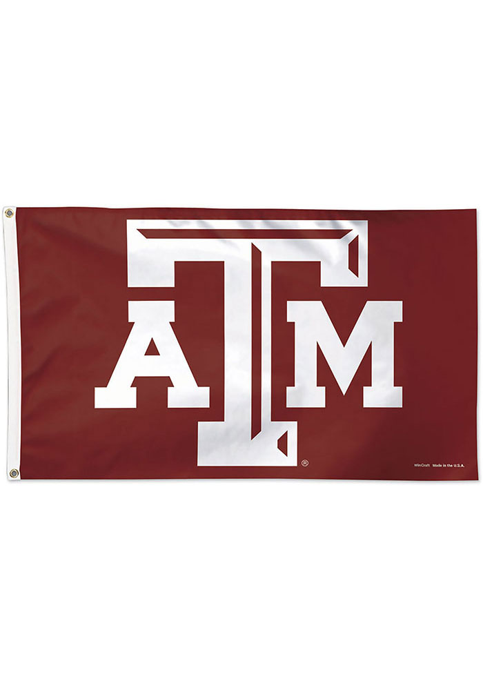 Texas A&M Aggies 3x5 Deluxe Maroon Silk Screen Grommet Flag - Image 1