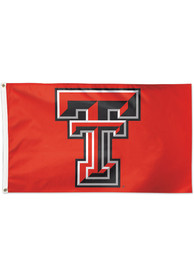 Texas Tech Red Raiders 3x5 ft Deluxe Red Silk Screen Grommet Flag