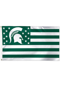 Michigan State Spartans 3x5 Americana Green Silk Screen Grommet Flag