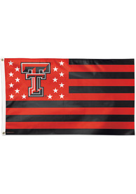 Texas Tech Red Raiders 3x5 Americana Red Silk Screen Grommet Flag