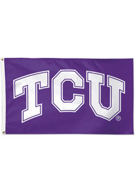 TCU Horned Frogs 3x5 Deluxe Purple Silk Screen Grommet Flag