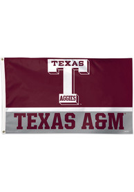 Texas A&M Aggies 3x5 Vault Logo Maroon Silk Screen Grommet Flag
