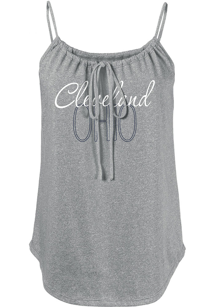 Cleveland Womens Red Fault Line Jr Tank Top - Image 1