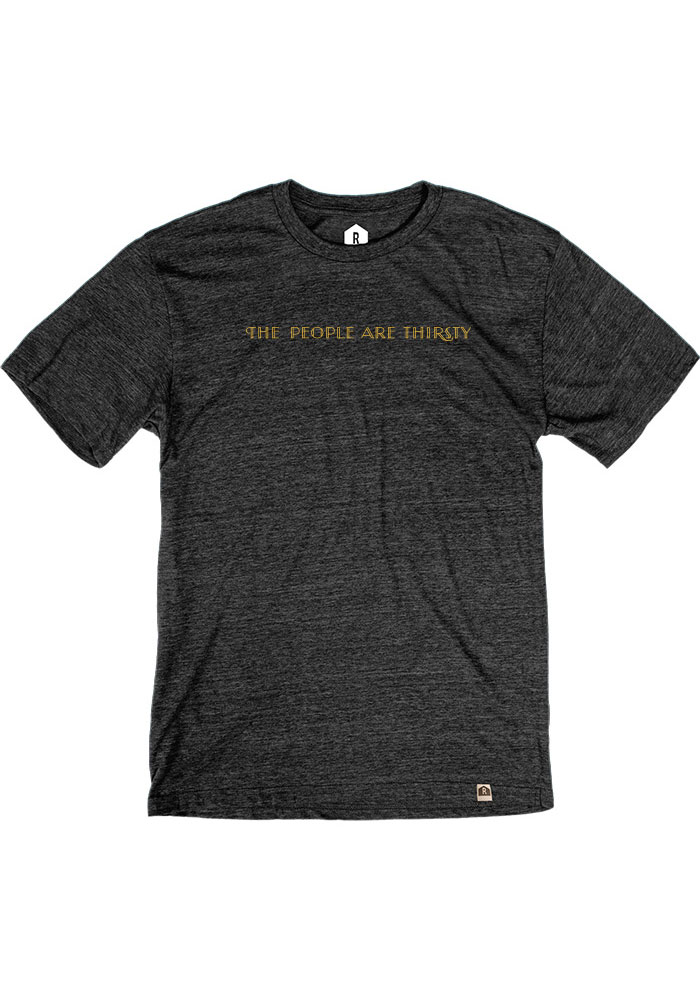 Toms Town Distilling Co. Heather Black People Are Thirsty Short Sleeve T Shirt - Image 2