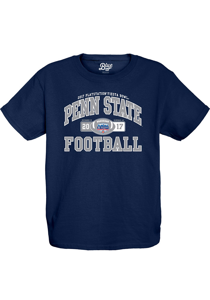 Penn State Nittany Lions Youth Navy Blue Tailside Short Sleeve T-Shirt - Image 1