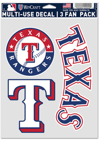 Texas Rangers Triple Pack Auto Decal - Blue