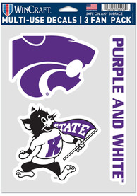 K-State Wildcats Triple Pack Auto Decal - Purple