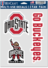 Ohio State Buckeyes Triple Pack Auto Decal - Red