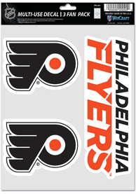 Philadelphia Flyers Triple Pack Auto Decal - Black