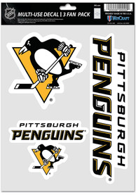 Pittsburgh Penguins Triple Pack Auto Decal - Black