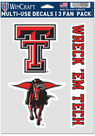 Texas Tech Red Raiders Triple Pack Auto Decal - Red