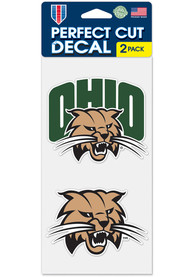 Ohio Bobcats 4x4 2 Pack Auto Decal - Green