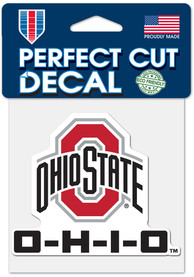 Ohio State Buckeyes 4x4 Auto Decal - Red