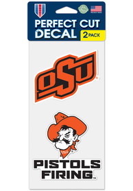 Oklahoma State Cowboys 4x4 2 Pack Auto Decal - Orange