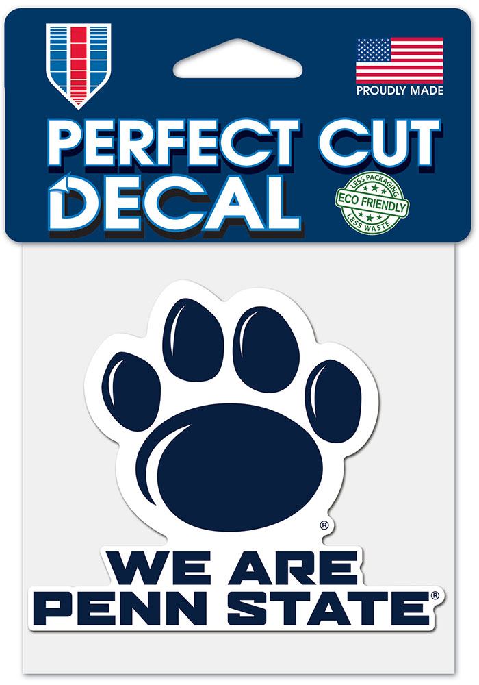 Penn State Nittany Lions 4x4 Auto Decal - Blue