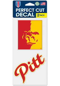 Pitt State Gorillas 4x4 2 Pack Auto Decal - Red