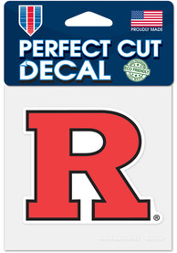 Rutgers Scarlet Knights 4x4 Auto Decal - Red