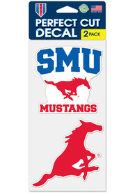 SMU Mustangs 4x4 2 Pack Auto Decal - Red