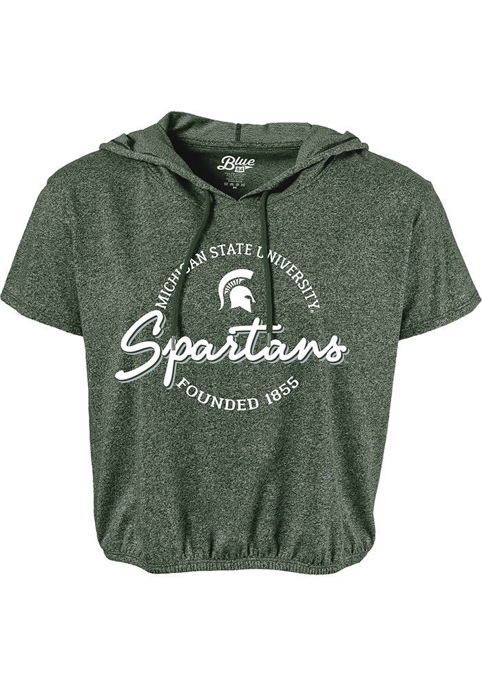 Michigan State Spartans Womens Clear Coat Hood T-Shirt - Green