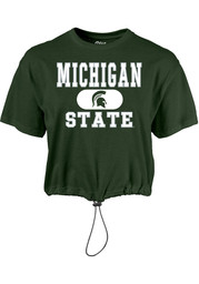 Michigan State Spartans Womens Wind Swept Toggle Bottom T-Shirt - Green
