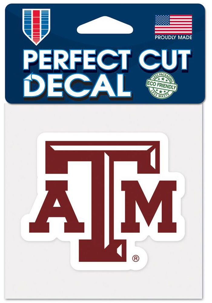Texas A&M Aggies 4x4 Auto Decal - Maroon - Image 1