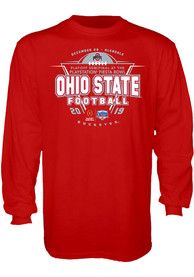 Ohio State Buckeyes Red 2019 College Football Playoff Bound Tee