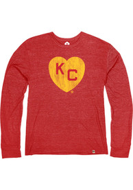 Kansas City Monarchs Rally Heart Kansas City Fashion T Shirt - Red