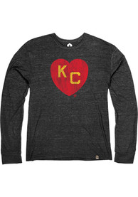 Kansas City Monarchs Rally Heart Kansas City Fashion T Shirt - Black
