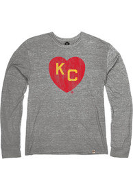 Kansas City Monarchs Rally Heart Kansas City Fashion T Shirt - Grey