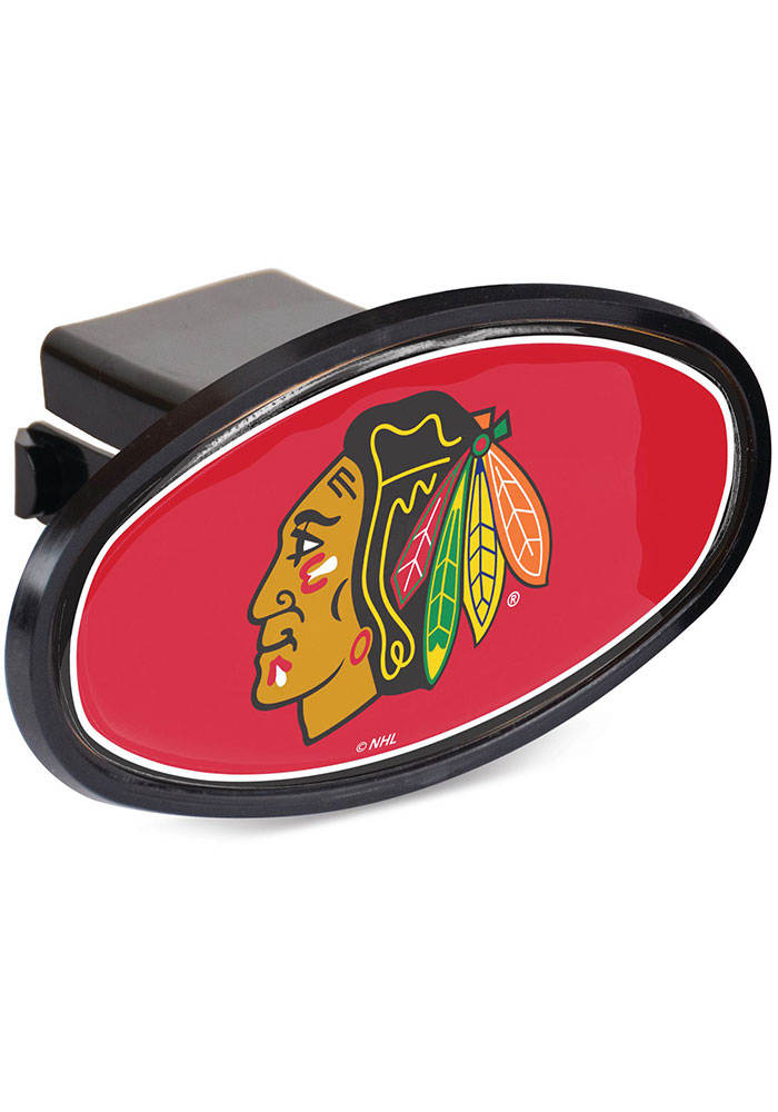 Chicago Blackhawks Oval Car Accessory Hitch Cover - Image 1
