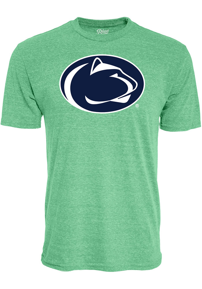 Penn State Nittany Lions Green Triblend Logo Short Sleeve T Shirt - Image 1