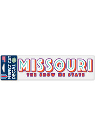 Missouri 3x10 Show Me State Auto Decal - Red