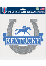 Kentucky 8x8 Horseshoe Auto Decal - Blue