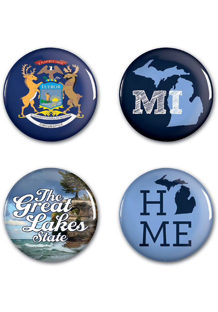 Michigan 4 Pack Buttons Button - Image 1