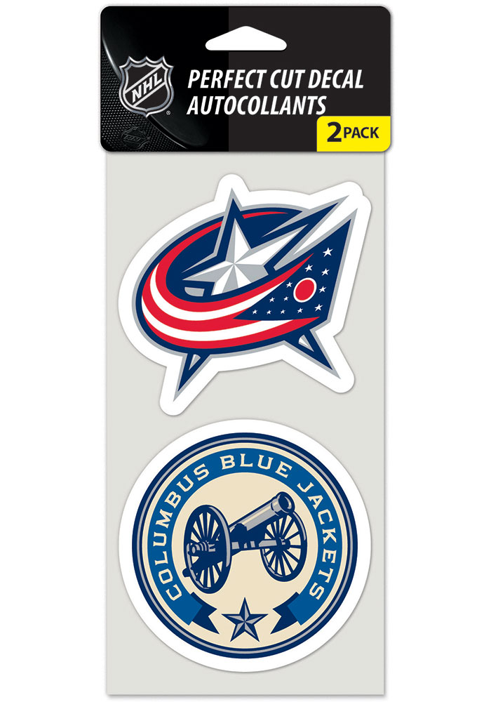 Columbus Blue Jackets 4x4 2 pack Auto Decal - Blue