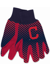 Cleveland Indians Two Tone Gloves - Blue