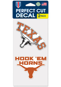 Texas Longhorns 4x4 2 Pack Auto Decal - Burnt Orange