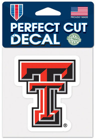 Texas Tech Red Raiders 4x4 Auto Decal - Red