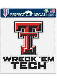 Texas Tech Red Raiders 8x8 Auto Decal - Red