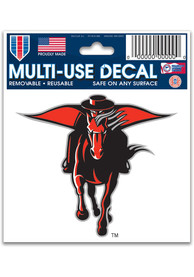 Texas Tech Red Raiders 3x4 Multi Use Auto Decal - Red
