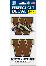 Western Michigan Broncos 4x4 2 Pack Auto Decal - Brown