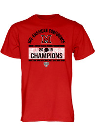 Miami RedHawks Red MAC 2019 Football Conference Champions Tee