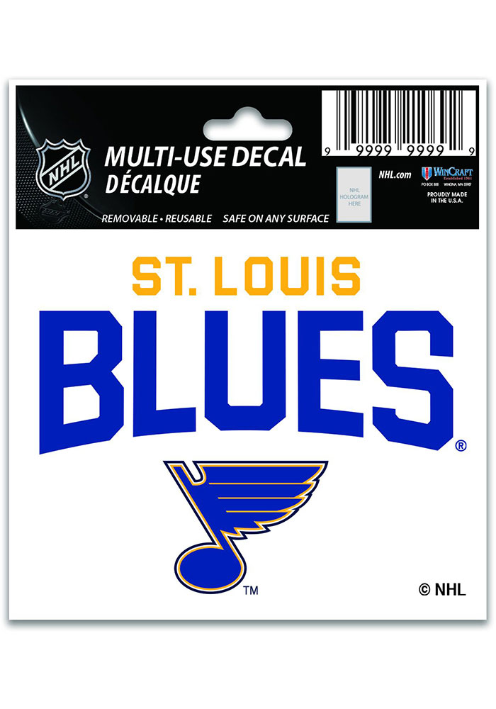 St Louis Blues 3x4 Multi Use Auto Decal - Blue - Image 1