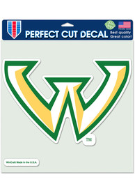 Wayne State Warriors 8x8 Auto Decal - Green
