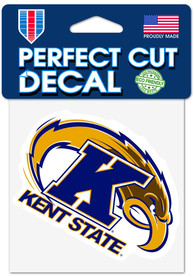 Kent State Golden Flashes 4x4 Auto Decal - Yellow