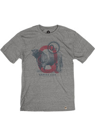 Q39 Heather Grey Cow Short Sleeve T Shirt