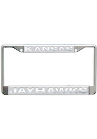 Kansas Jayhawks Frosted License Frame